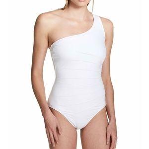 Calvin Klein Shoulder Starburst One-Piece Swimsuit